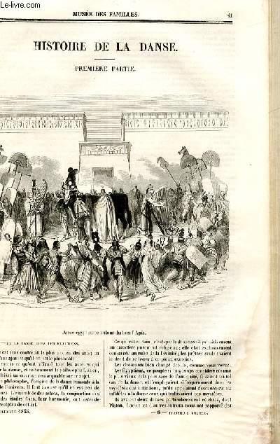 Le musée des familles - lecture du soir - deuxième série - livraison n°06 - Histoire de la danse, première partie par Hippolyte Etiennez,à suivre.