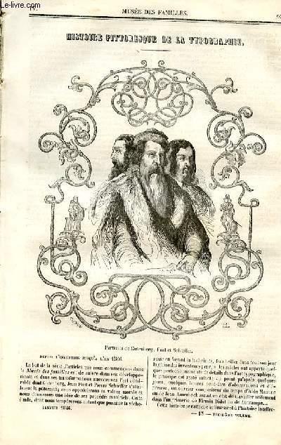 Le musée des familles - lecture du soir - deuxième série - livraison n°13 - Histoire pittoresque de la typographie par  Auguste Vitu,à suivre.