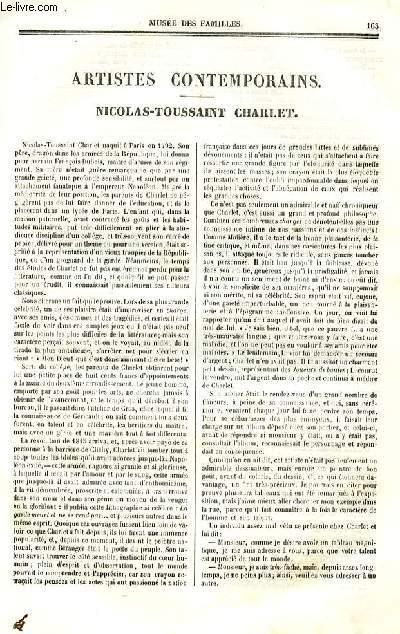 Le musée des familles - lecture du soir - deuxième série - livraison n°21 - Artistes contemporains - Nicolas Toussaint Charlet par Louise Leneveux.