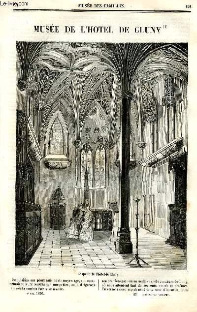 Le musée des familles - lecture du soir - deuxième série - livraison n°25 et 26  - Musée de l'hôtel de CLuny par Charles Tissot,suite.