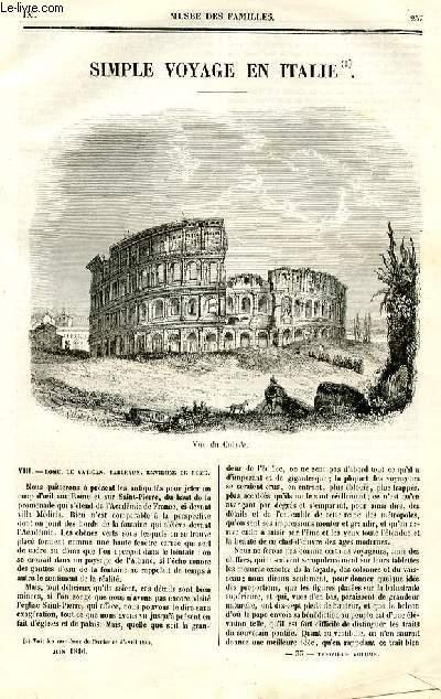 Le musée des familles - lecture du soir - deuxième série - livraisons n°33 et 34 - Simple voyage en Italie ,suite par Arnould Frémy.