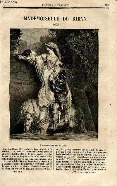 Le musée des familles - lecture du soir - deuxième série - livraison n°37 - Mademoiselle du Riban (1635) .