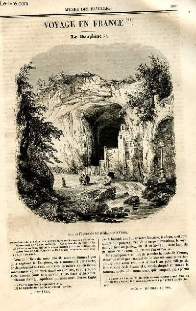 Le musée des familles - lecture du soir - deuxième série - livraison n°38 et 39 - Voyage en France - le Dauphiné par  Mme Camille Lebrun, à suivrE.
