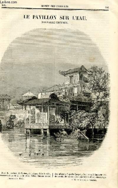Le musée des familles - lecture du soir - deuxième série - livraison n°45et 46 - Le pavillon sur l'eau, nouvele chinoise  par Théophile gautier.
