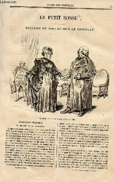 Le musée des familles - lecture du soir - deuxième série - livraison n°03 et n°04 - Le petit bossu, esquisses de moeurs sous le consulat par Paul de Kock, à suivre.