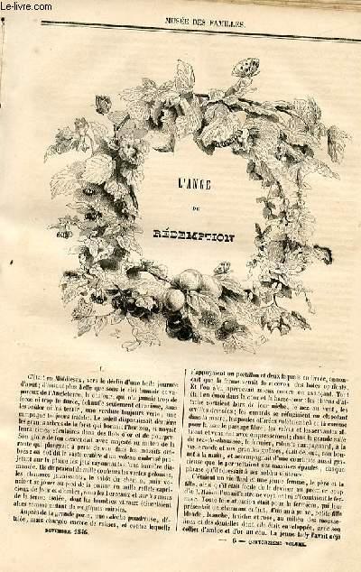 Le musée des familles - lecture du soir - deuxième série - livraison n°06 - L'ange de rédemption par D. Fabre d'Olivet, à suivrE.