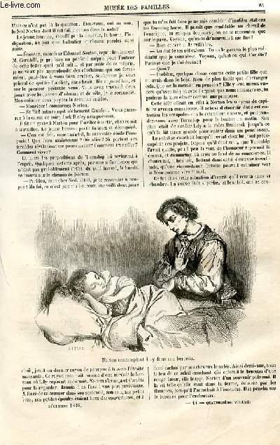 Le musée des familles - lecture du soir - deuxième série - livraison n°11 et 12 - Voyage en Espagne (10 octobre 1846) par Théophile Gautier, à suivre.