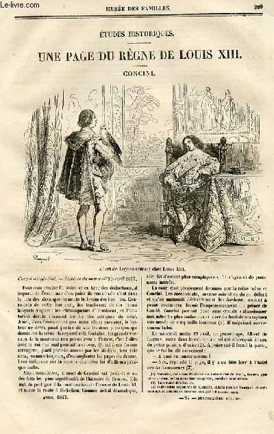 Le musée des familles - lecture du soir - deuxième série - livraison n°27 - Etudes historiques - Une page du règne de Louis XIII - Concini par Hippolyte Castille.