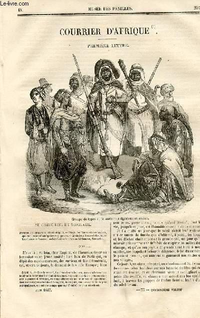 Le musée des familles - lecture du soir - deuxième série - livraison n°33 et 34- Courrier d'Afrique , première lettre  - au comte Eug. de Montlaur suivi de Aichouna par A. de Gondrecourt,à suivre.