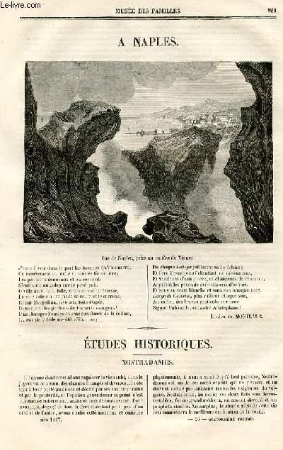 Le musée des familles - lecture du soir - deuxième série - livraison n°36 - A naples, poème par De Montlaur.