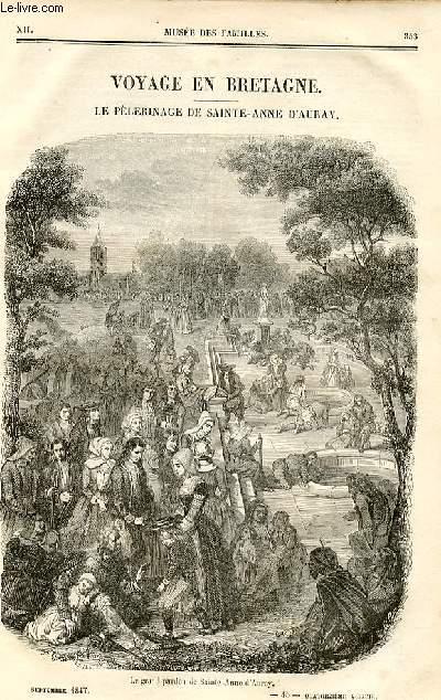 Le musée des familles - lecture du soir - deuxième série - livraison n°45 et 46 - Voyage en Bretagne,suite - Le pélerinage de Sainte Anne d'Auray par Pitre Chevalier.
