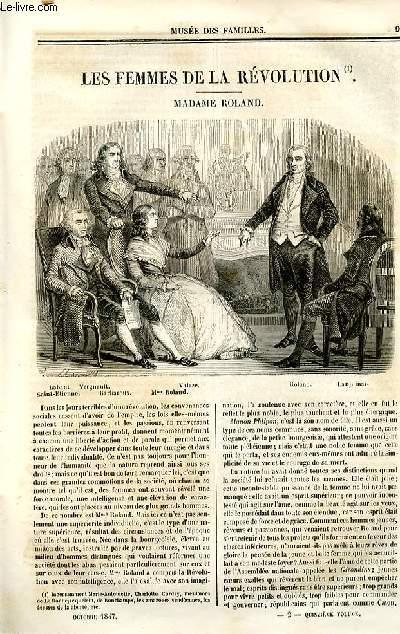 Le musée des familles - lecture du soir - deuxième série - livraison n°02 - Les femmes de la révolution - Madame Roland.