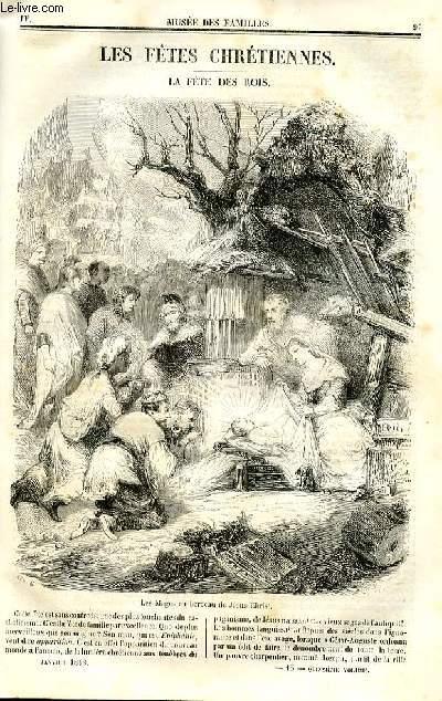 Le musée des familles - lecture du soir - deuxième série - livraison n°13 - Les fêtes chrétiennes - La fête des rois par De Chatouville.