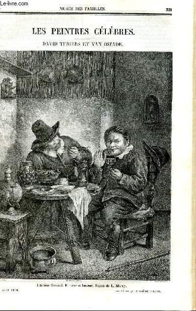 Le musée des familles - lecture du soir - deuxième série - livraison n°41 et 42 - Les peintres célèbres - David teniers et Van Ostade par Arsène Houssaye.