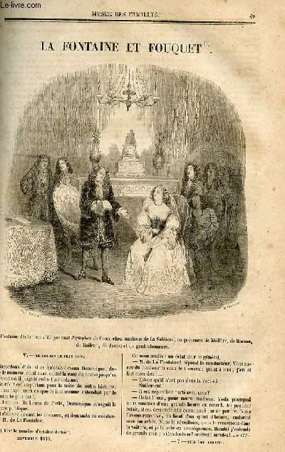 Le musée des familles - lecture du soir - deuxième série - livraison n°07 et 08 - La Fontaine et Fouquet,suite et fin.