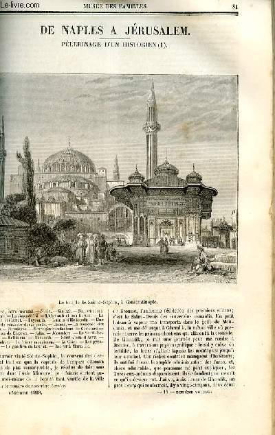 Le musée des familles - lecture du soir - deuxième série - livraison n°11 et 12 - De Naples à Jérusalem, pélerinage d'un historien par Mazas.