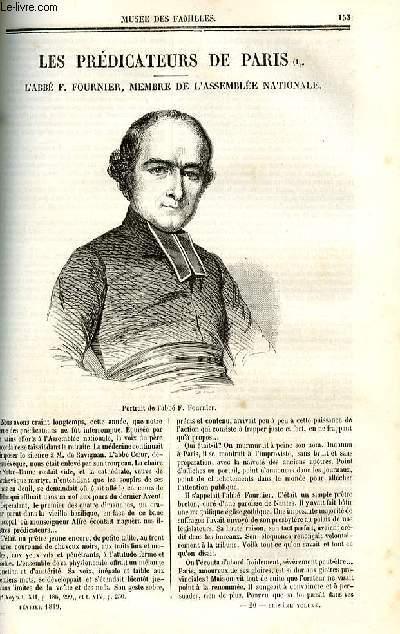Le musée des familles - lecture du soir - deuxième série - livraison n°20 - Les prédicateurs de Paris - L'abbé F. Fournier membre de l'Assemblée nationale.