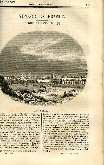 Le musée des familles - lecture du soir - deuxième série - livraison n°25 - Voyage En France - un tour en Languedoc par Mary Lafon.