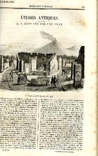 Le musée des familles - lecture du soir - deuxième série - livraison n°31et 32 - Etudes antiques - Il y avait une fois une ville  par C. de Chatouville.
