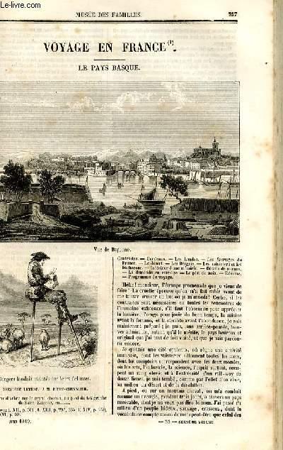 Le musée des familles - lecture du soir - deuxième série - livraison n°33 - Voyage en France - Le pays Basque par Germond de Lavigne, à suivre.
