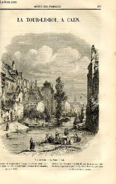 Le musée des familles - lecture du soir - deuxième série - livraison n°37 - La Tour-Le-Roi à Caen.