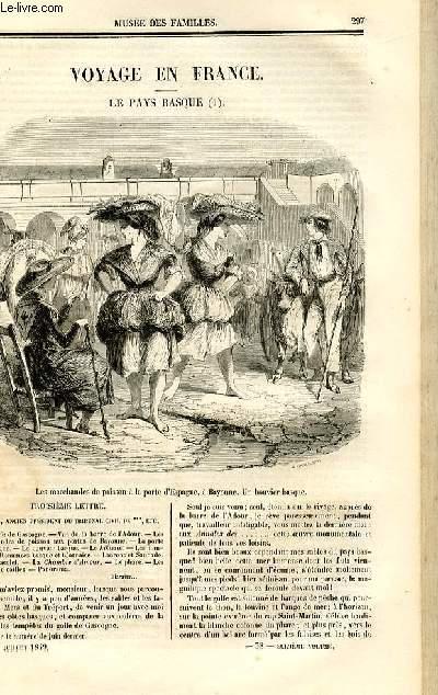 Le musée des familles - lecture du soir - deuxième série - livraisons n°38 et 39 - Voyage en France - le Pays Basque,suite par Germond de Lavigne.