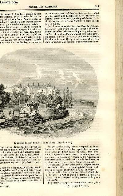 Le musée des familles - lecture du soir - deuxième série - livraison n°40 - Etudes morales - La colonie de SAint Ilan (Cotes du Nord),suite  par Pitre Chevalier.