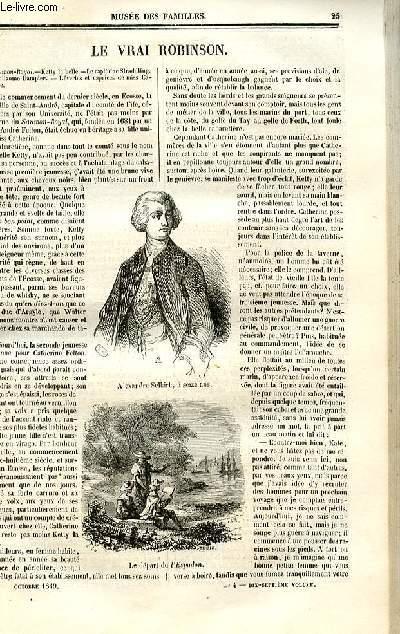 Le musée des familles - lecture du soir - deuxième série - livraison n°04 - Le vrai Robinson par X. B. Saintine.