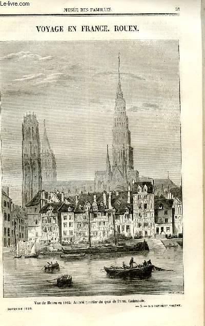 Le musée des familles - lecture du soir - deuxième série - livraisons n°05 et 06 - Voyage en France - Rouen (le quai de PAris).