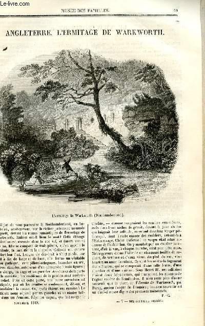 Le musée des familles - lecture du soir - deuxième série - livraison n°07 - Angleterre - L'ermitage de Warkworth.