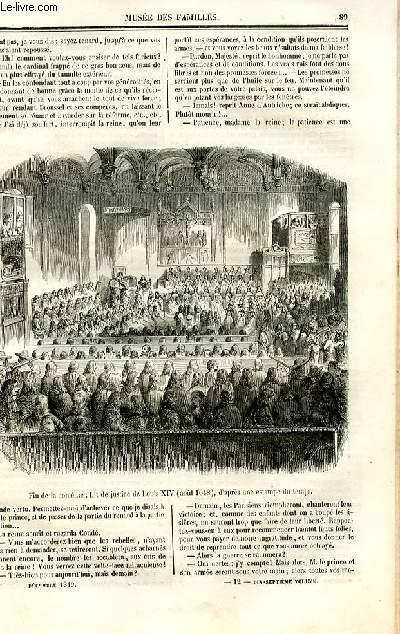 Le musée des familles - lecture du soir - deuxième série - livraison  n°12 - Suite et fin de Histoire de France - les révolutions d'autrefois - le médaillon d'argent 1648 par Pitre Chevalier.