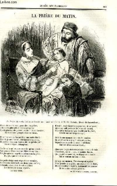 Le musée des familles - lecture du soir - deuxième série - livraisons n°16 et 16 bis - La prière du matin.