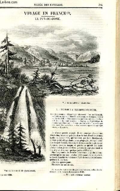 Le musée des familles - lecture du soir - deuxième série - livraison n°39 - Voyage en France - le Puy de Dôme par Auguste Vitu,à suivre.