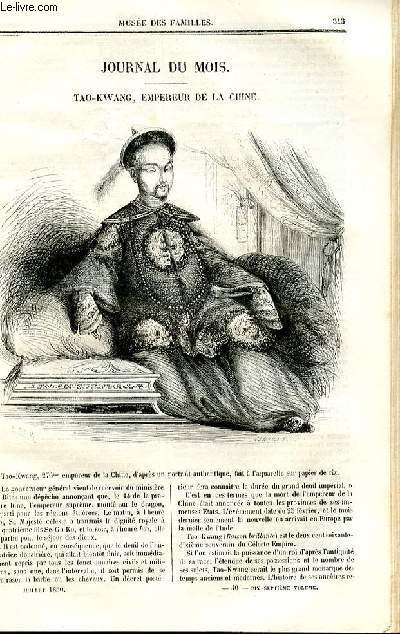 Le musée des familles - lecture du soir - deuxième série - livraison n°40 - Journal du mois - Tao Wang , empereur de Chine.