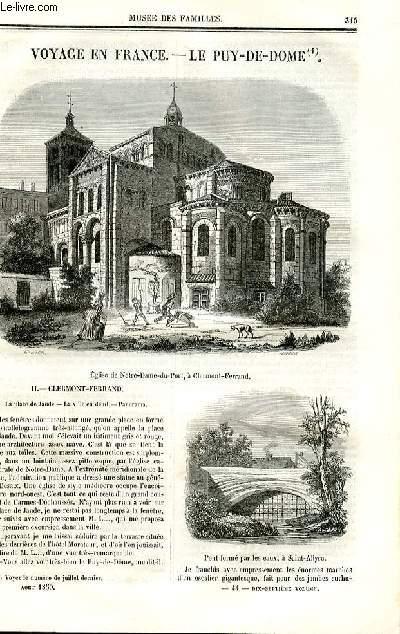 Le musée des familles - lecture du soir - deuxième série - livraison n°44 - Voyage en France - Le puy de Dôme, suite.