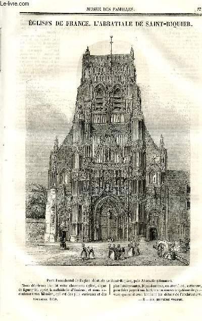 Le musée des familles - lecture du soir - deuxième série - livraison n°08 - Eglises de France - l'abbatiale de Saint Riquier (petit article de quelques lignes).