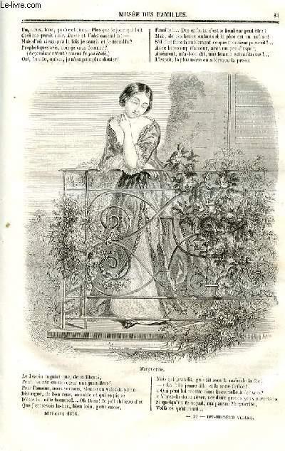 Le musée des familles - lecture du soir - deuxième série - livraisons n°11 et 12 - Spectacle en famille - Marguerite ou il ne faut pas courir deux lièvres à la fois, comédie proverbe dédiée à Mme G-t-D-s, suite.