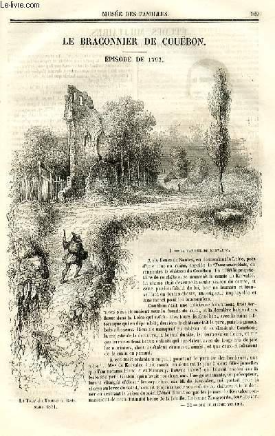 Le musée des familles - lecture du soir - deuxième série - livraison n°22 - Le braconnier de Couëbon, épisode de 1793 par Fanny de Mouzay.