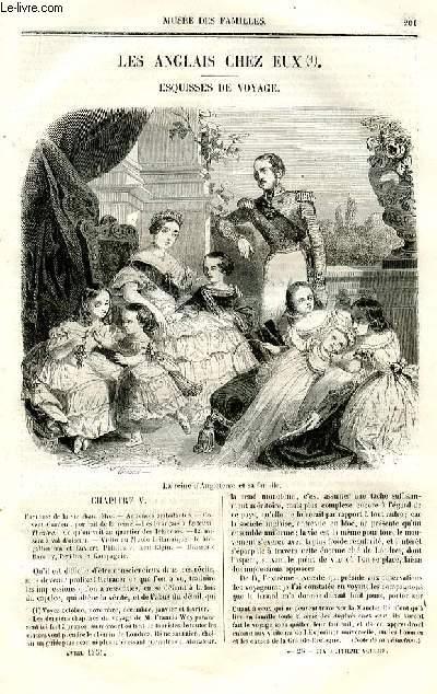 Le musée des familles - lecture du soir - deuxième série - livraisons n°26 et 27 - Les Anglais chez eux, esquisses de voyage par Wey,suite.