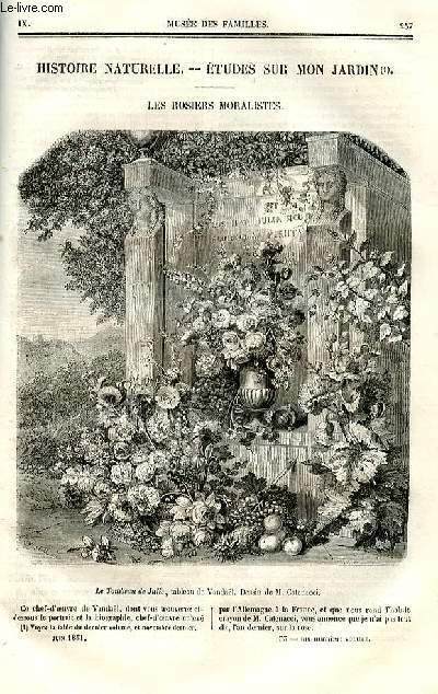 Le musée des familles - lecture du soir - deuxième série - livraisons n°33 et 34 - Histoire naturelle - études sur mon jardin - Les rosiers moralistes par Jardineur.