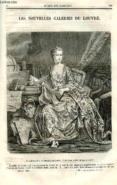 Le musée des familles - lecture du soir - deuxième série - livraisons n°37 et 39 (pas de livraison 38) - Les nouvelles galeries du Louvre.