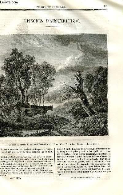 Le musée des familles - lecture du soir - deuxième série - livraison n°41 - Episodes d'Austerlitz par Feu Frédéric Soulié.