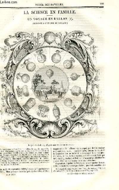 Le musée des familles - lecture du soir - deuxième série - livraison n°42 - La science en famille - Un voyage en ballon (réponse à l'énigme de juillet).