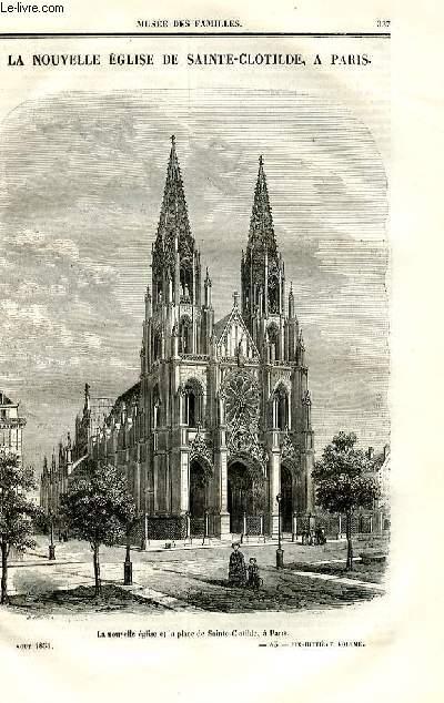 Le musée des familles - lecture du soir - deuxième série - livraisons n°43 et 44 - La nouvelel église de Sainte Clotilde à Paris.