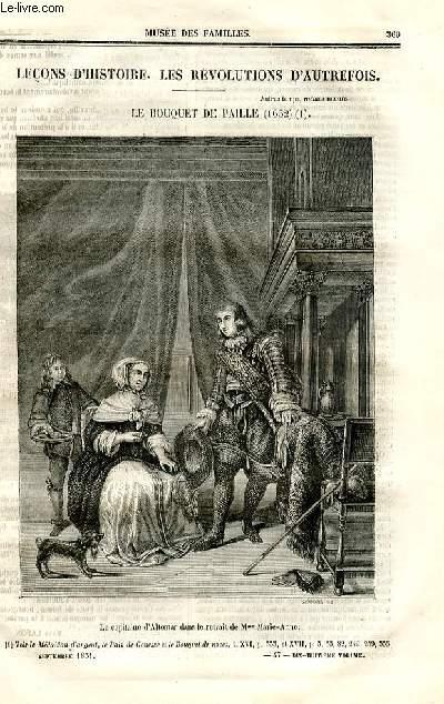Le musée des familles - lecture du soir - deuxième série - livraisons n°47 et 48 - Leçons d'histoire - Les révolutions d'autrefois - Le bouquet de paille (1652) par Pitre CHevalier.