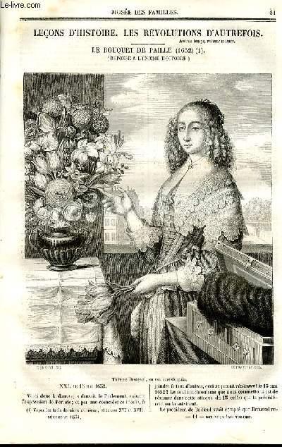 Le musée des familles - lecture du soir - deuxième série - livraisons n°11  et 12- Leçons d'histoire - Les révolutions d'autrefois - le bouquet de paille (1652),suite.