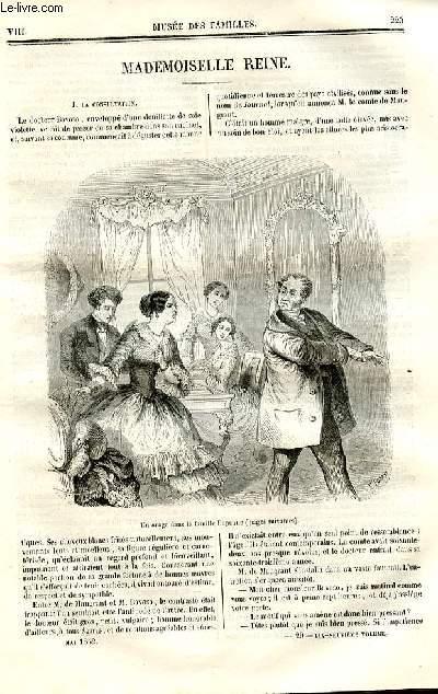 Le musée des familles - lecture du soir - deuxième série - livraisons n°29 et 30 - Mademoiselle reine par Paul Juillerat.