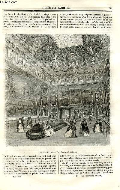 Le musée des familles - lecture du soir - deuxième série - livraisons n°31 et 32 - Le nouveau salon et l'ancien musée - La galerie d'Apollon par De Chatouville.