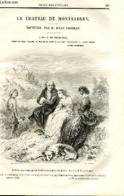 Le musée des familles - lecture du soir - deuxième série - livraisons n°37 et 38 - Le château de Montsabrey, nouvelle par Jules Sandeau (à Mme C. De Courbonne) par Jules SAndeau,à suivre.