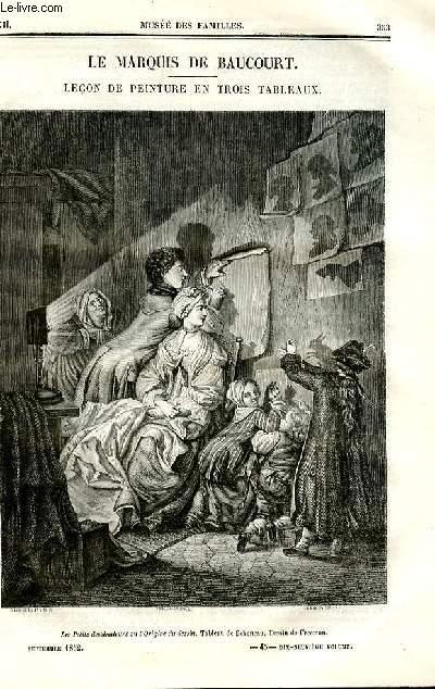 Le musée des familles - lecture du soir - deuxième série - livraisons n°45 et 46 - Le marquis de Beaucourt , leçon de peinture en trois tableaux par Pitre Chevalier.